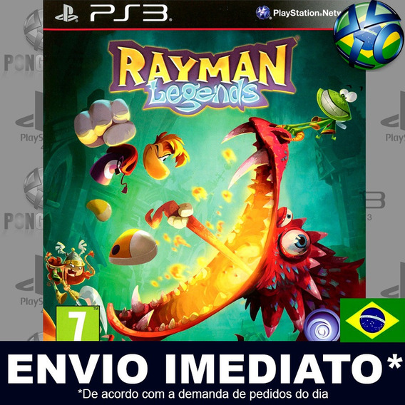 Rayman Legends Ps3 Digital Psn Dub Pt Br Envio Agora