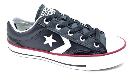 Zapatillla Converse Star Player Ox Cuero Negro 138814b