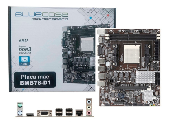 Placa Mãe Bluecase Socket Am3+ Ddr3 Phenom Fx 95w Gigabit