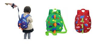 Mochila Dinosaurio Arnes Cute Preescolar Niños Kids Unisex