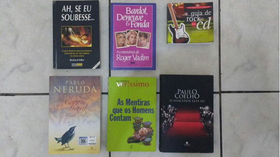 Lote De 6 Livros Pablo Neruda Veríssimo Paulo Coelho Etc