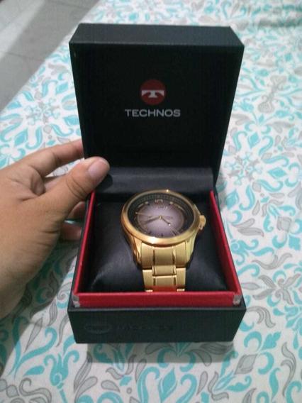 Relógio Masculino Technos Dourado Classic