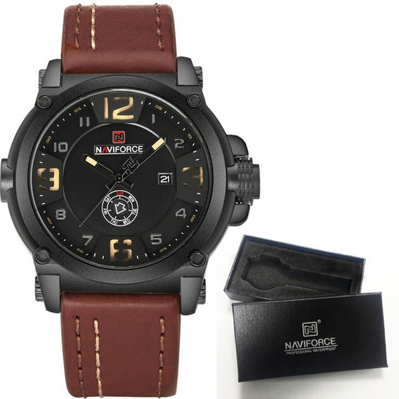 Relógio Masculino Original Naviforce 9099 Caixa Fg