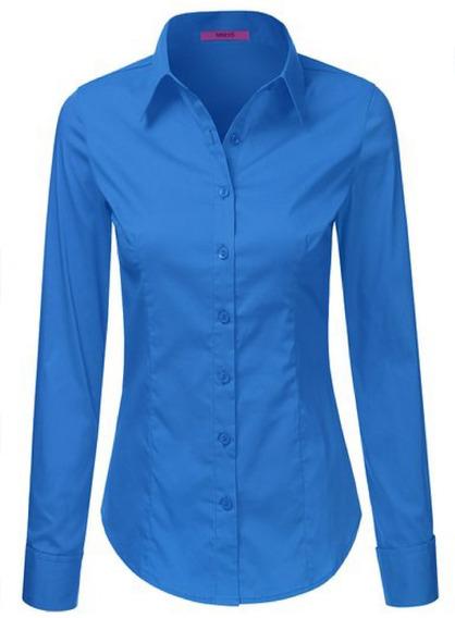 Camisas Para Damas En Popelina Estrech