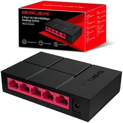 Imagen 1 de 4 de Switch Gigabit Mercusys 5 Puertos Ms105g 10/100/1000 Desktop