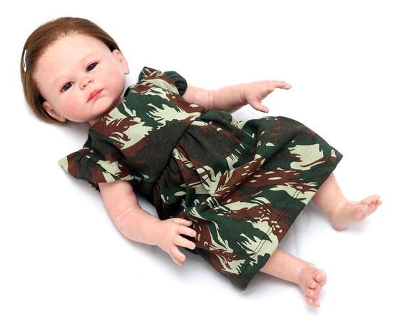 Vestido Bebê Menina Militar