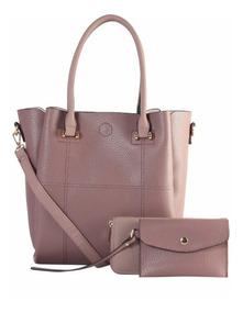 Bolsa 3 En 1 @ Diophy @ Bolsa-cartera-bolsita Color Lila