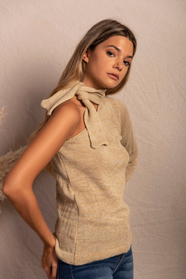 Sweater Un Hombro Lúrex