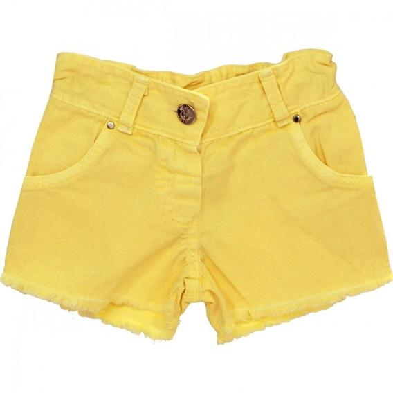 Kit 5 Shorts Curto Colorido Feminino Promoção Botão Sarja