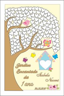 Quadro De Assinatura Jardim Encantado Infantil 12 X Sem Juro