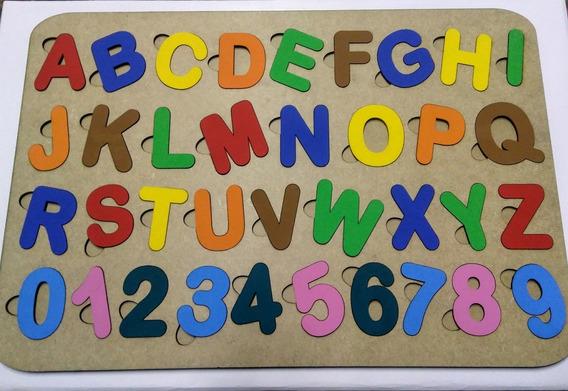 2 Brinquedos Pedagógico Tabuleiros Alfabeto Numeros Sinais