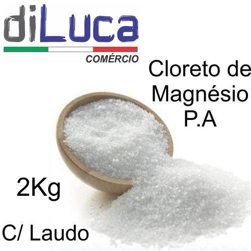 Cloreto De Magnésio Pa Laudo Fabricante 2kg