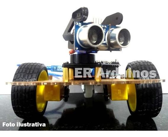 Kit Montar Carro Arduíno Projetos Robotica Desvia Obstaculo