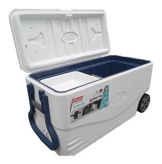 Caixa Cooler Termico Coleman Marine 82 Qt / 77l Com Rodas