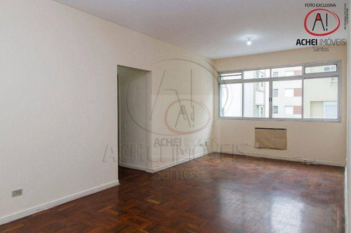 Imagem 1 de 30 de Apartamento Com 2 Dormitórios, 2 Banheiros, Dependência Completa, 1 Vaga, À Venda, 90 M² Por R$ 460.000 - Ponta Da Praia - Santos/sp - Ap10926