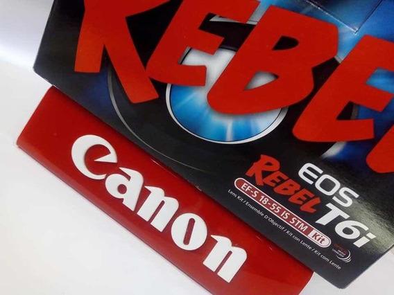 Canon T6i Kit 18-55m Na Caixa Com Acessório C/ Menos De 7k
