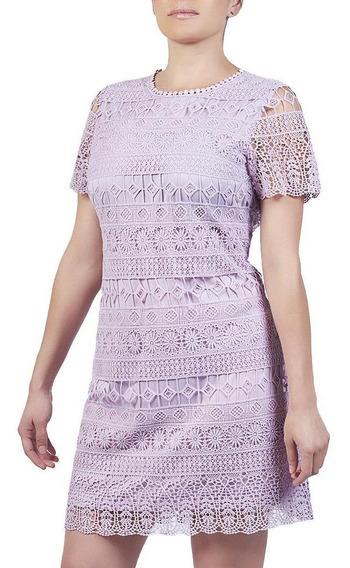 Vestido Casual Corto De Crochet Cklass