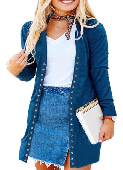 Elegante Saco Abrigo Moda Casual