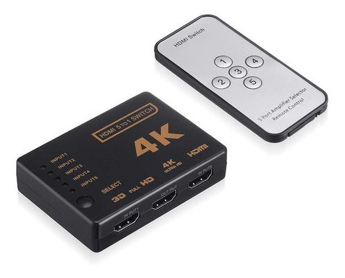 Hdmi Switch Multiplicador Selector 5x1 4k 2k Control Remoto