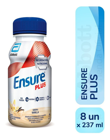 Ensure Plus Liquido 237 Ml X 8 Unidades Varios Sabores