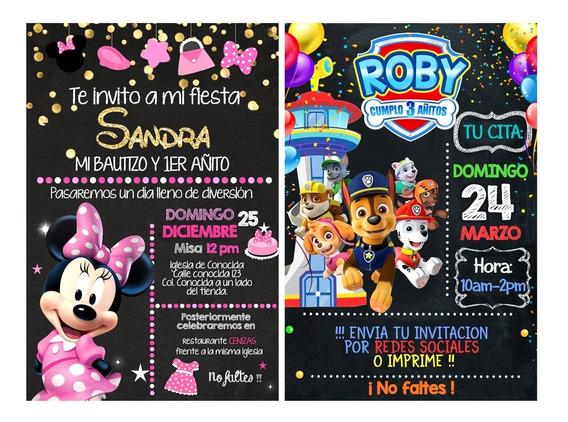 Invitaciones Personalizadas Pizarron