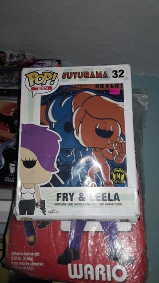 Playera Funko Pop Tees Fry & Leela Futurama