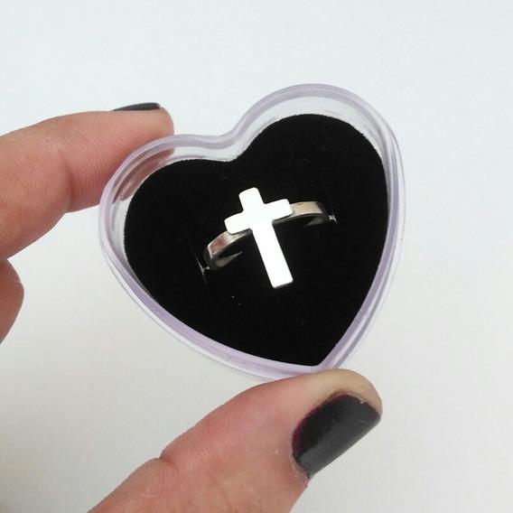 Anel Em Prata 950 Crucifixo
