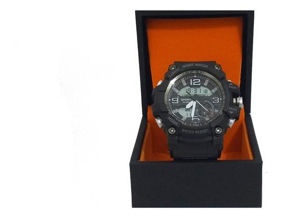 Relógio Masculino Sanda R-shock-militar-pulseira De Silicone