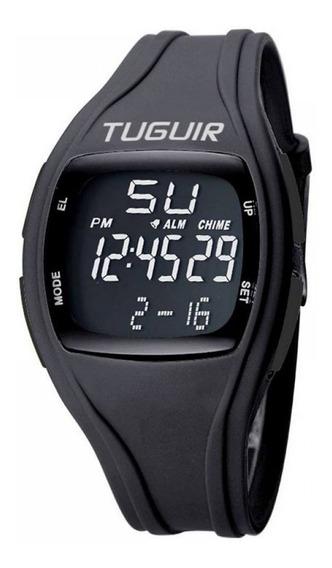 Relogio Esportivo Digital Preto Tuguir Tg1602 Garantia 1 Ano