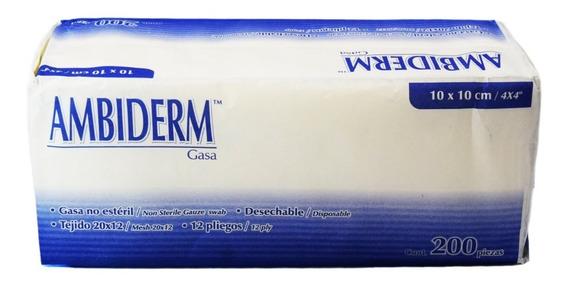 Gasa No Esteril Ambiderm 10x10 Cm. 200 Pzas. Appcrom