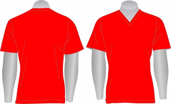 Kit 10 Camisetas Básica Gola V 100% Algodão