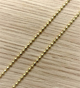 Corrente Bolinhas 80cm Banho Ouro 18k 1819
