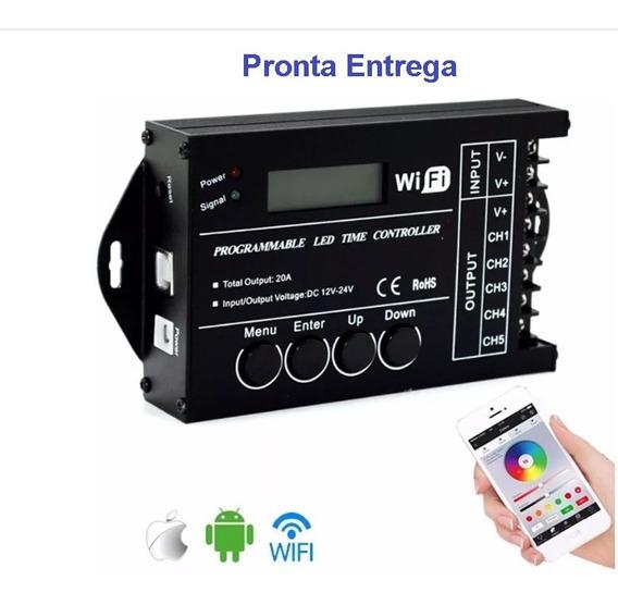 Controlador Iluminacao Led Tc421 Wifi P/ Aquario E Ambiente