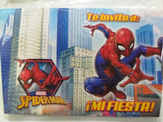 Tarjeta De Invitacion De Spiderman Souvenirs Para Tu