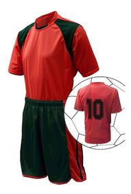 Kit 18 Uniforme Camisa, Calção E Meião