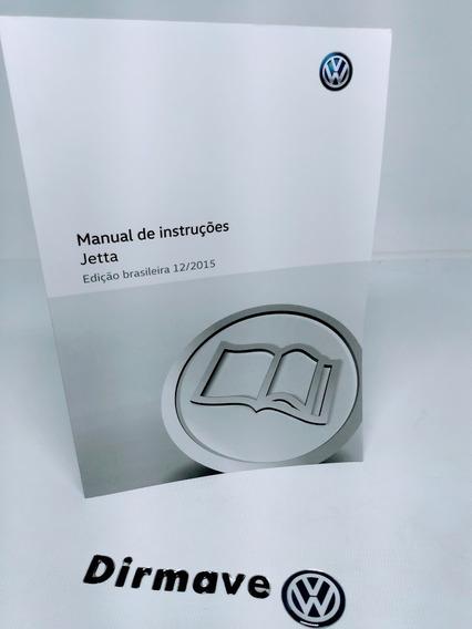 Manual Do Proprietário Jetta 15/16 Original Novo 5c6012766am