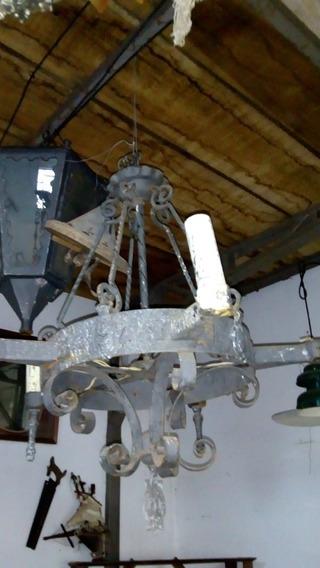 Lustre Antigo De Ferro Forjado
