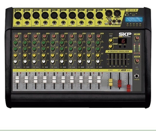 Consola Amplificada Power Mixer Bluetooth Usb Memoria Sd