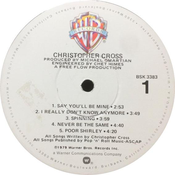 Vinilo Christopher Cross Christopher Cross Lp Usa 1979