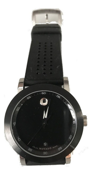 Relógio Masculino Movado Museum Swiss Sport Preto