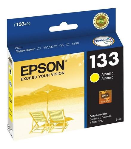 Cartucho Epson 133 Colores Cian Magenta Amarillo Originales
