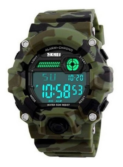 Relógio Masculino Digital A Prova Dagua Skmei 1197 Camuflado