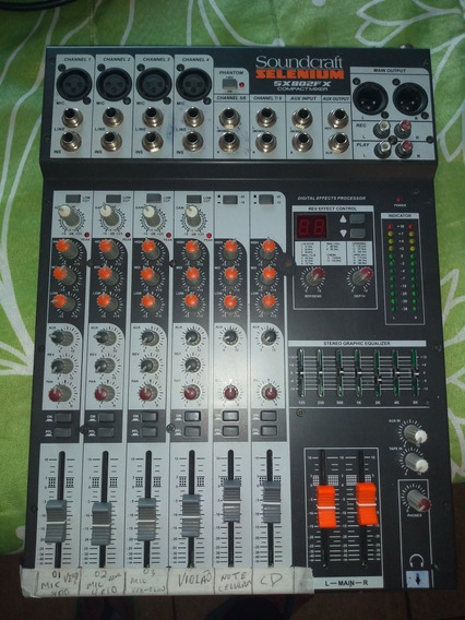 Mesa De Som Soundcraft Sellenium