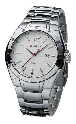 Relógio Curren Masculino 8103 Prata