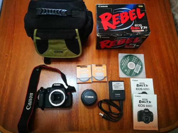 Camera Seminova Canon T3i Lente 18-55mm Acessórios Promoçao