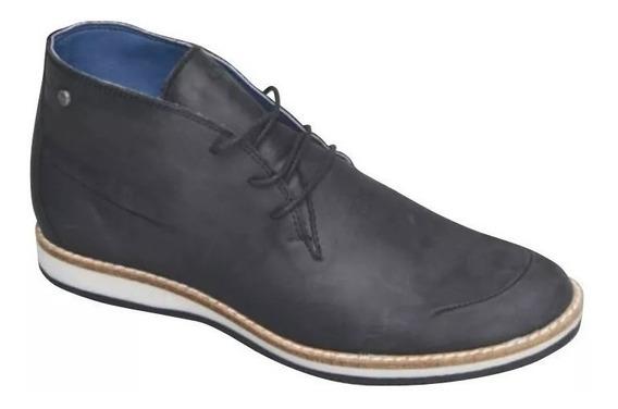Zapato Botita Stone 1575 Woody Top Ingles Negro / Marrón