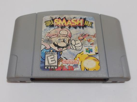 N-64: Super Smash Bros Original Americano! Cartucho Novinho!