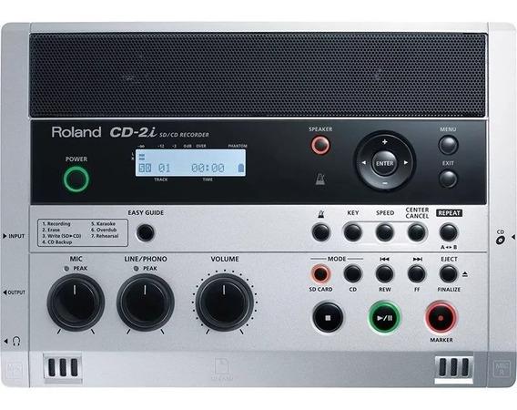 Gravador Cd Sd Externo Roland Cd-2i Loja Autorizada