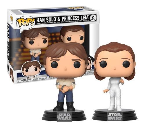 Boneco Funko Pop Princesa Leia E Han Solo 2 Pack - Star Wars