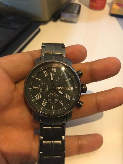 Relógio Fóssil Modelo Bq1004 Todo Em Aço Inoxidável.